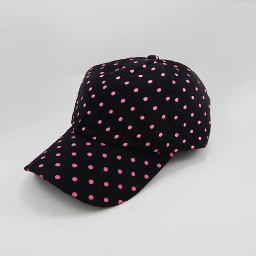 [1 pc] polka dot hat - black