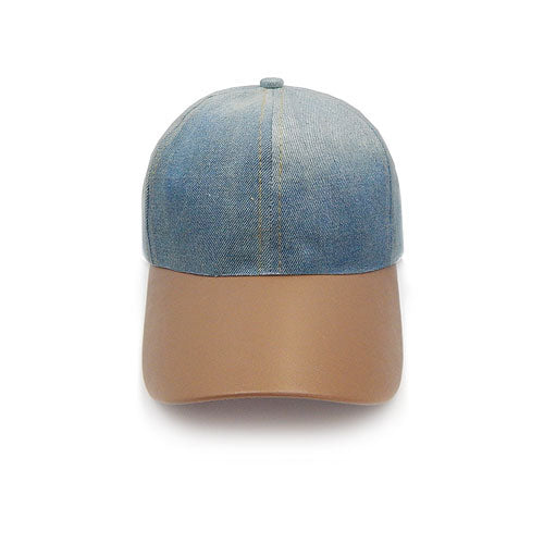 Denim hat - brown