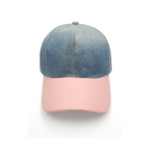 Denim hat - pink