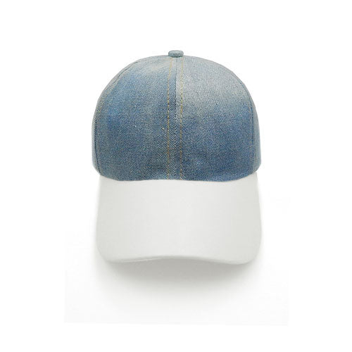 Denim hat - white