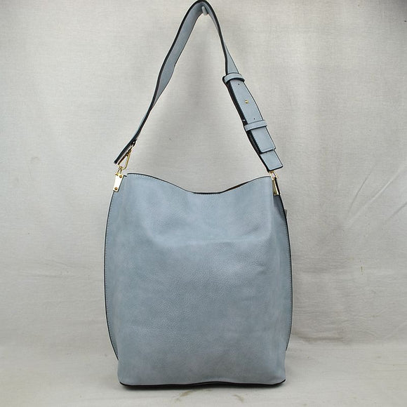 Classic hobo with pouch - blue