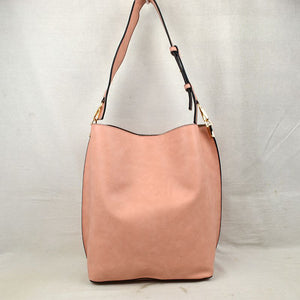 Classic hobo with pouch - blush