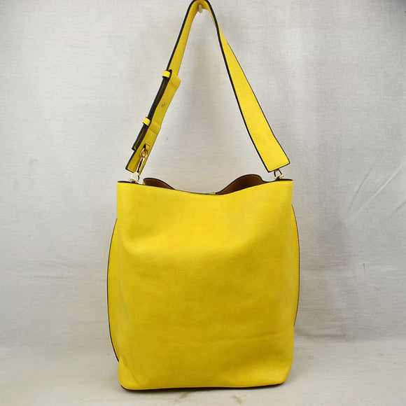 Classic hobo with pouch - yellow