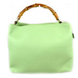 Wood handle tote - mint
