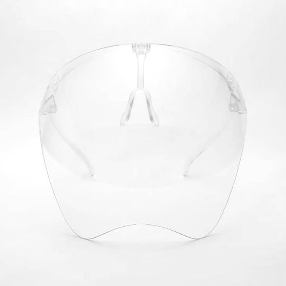 [10pcs] Fashion face shield with glasses frame - clear