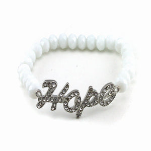HOPE & BEAD BRACELET - WHITE