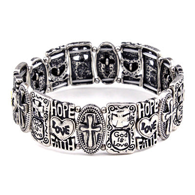 INSPIRATIONAL CROSS BRACELET