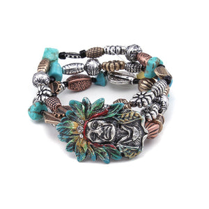 [12PC] Native American Bracelet- 4438mtb