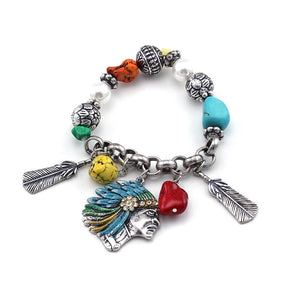 [12PC] Native American Bracelet- 4443sbmt