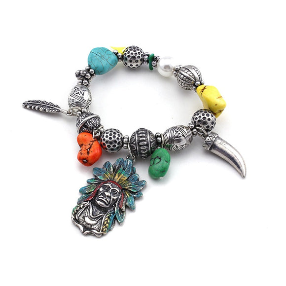 [12PC] Native American Bracelet- 4445sbmt
