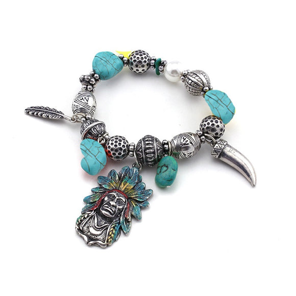 [12PC] Native American Bracelet- 4445sbtq