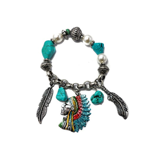 [12PC] Native American Bracelet- 4448sbtq
