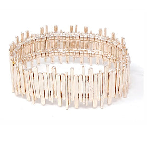Thin metal bar bracelet - rose gold