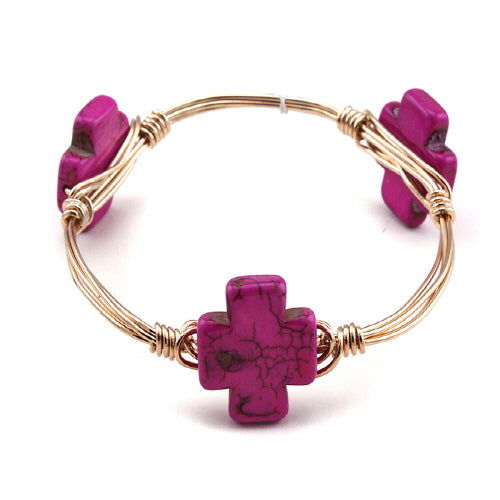 CROSS WIRE BANGLE - FUSHA