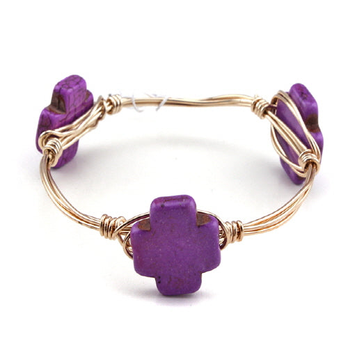 CROSS WIRE BANGLE - PURPLE