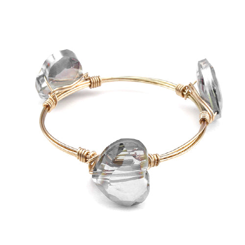 HEART WIRE BANGLE - AURORA BOREAL