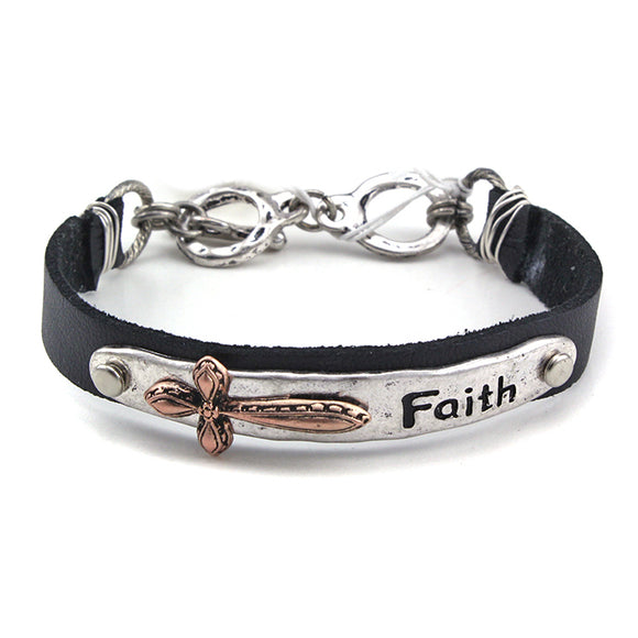 CROSS & FAITH BRACELET - Pink Vanilla
