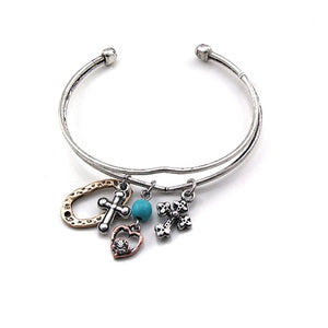 Cross & heart cuff