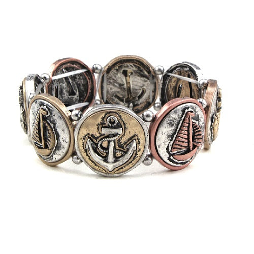 Nautical theme bracelet - multi