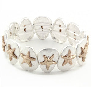 Starfish bracelet - silver and gold