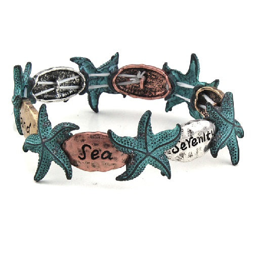 Starfish with  words bracelet
