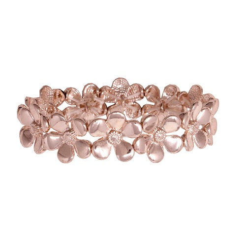 Flower bracelet - rose gold