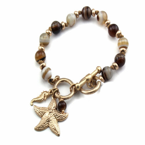 STARFISH TOGGLE - SEMI PRECIOUS