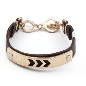 GOLD CHEVRON TOGGLE