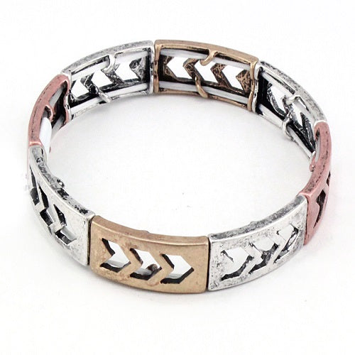 Chevron bracelet - multi