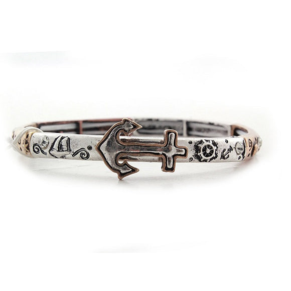 Anchor bracelet - tri multi