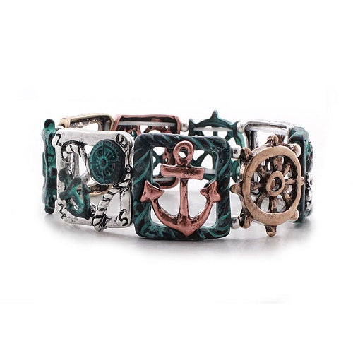 Nautical bracelet - patina