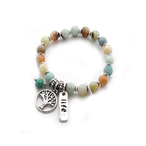 Tree of life w/ semi precious stone bracelet