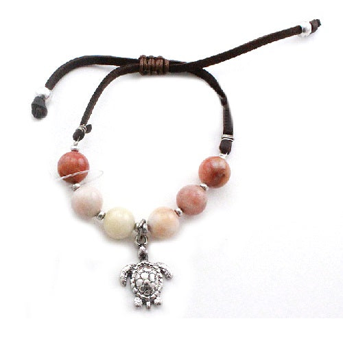 Turtle w/ semi precious bracelet - Natural