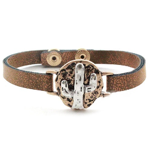 Cactus leather bracelet - SBBR
