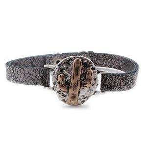 Cactus leather bracelet - GBGY
