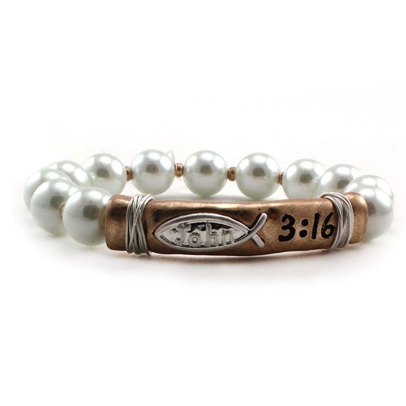 MESSAGE BAR BRACELET - JOHN 3:16