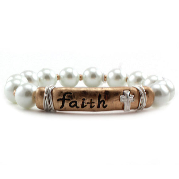 MESSAGE BAR BRACELET - FAITH
