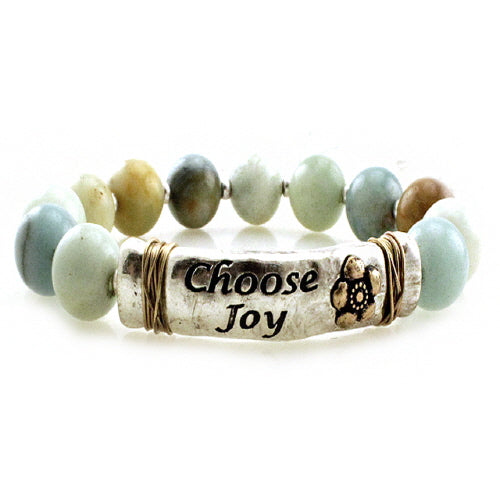 Choose Joy semi precious bracelet - LMT