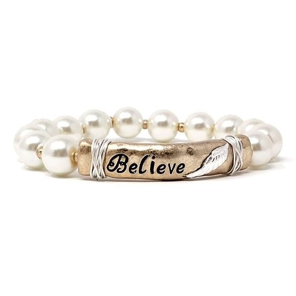MESSAGE BAR BRACELET - BELIEVE