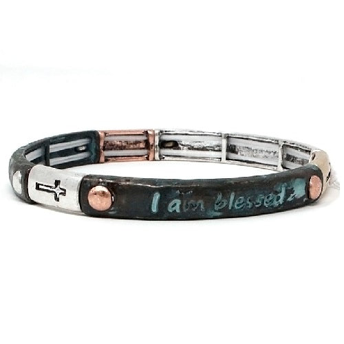 I am blessed bracelet - patina