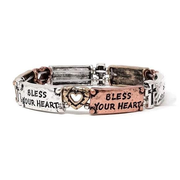 BLESS YOUR HEART BRACELET - Pink Vanilla
