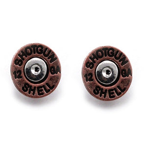 Shotgun shell earring - copper'
