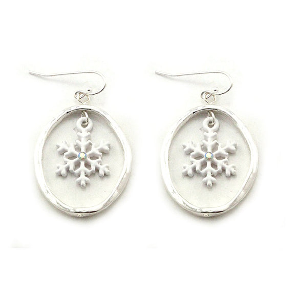[12PC] Christmas Snowflake earring