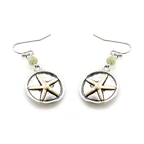 Starfish  earring - silver gold