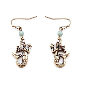 Mermaid earring - gold