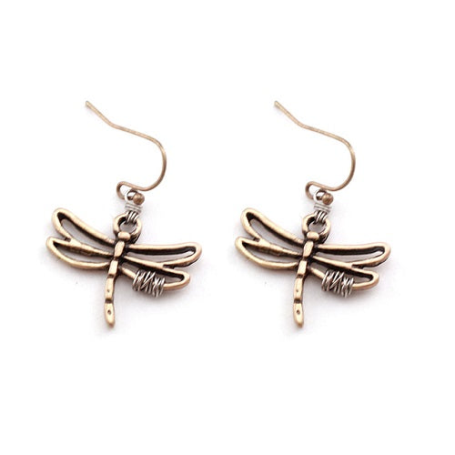 Dragonfly earring - gold