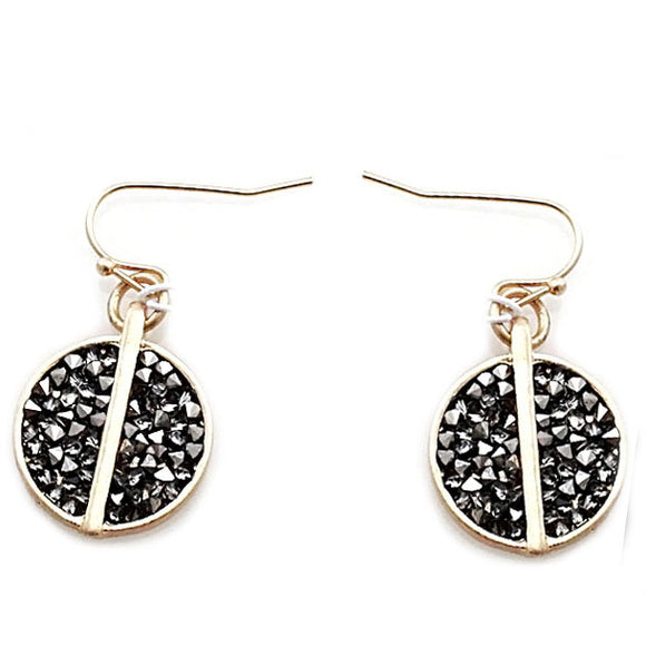 ROUND PAVE EARRING