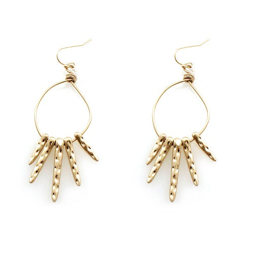 Tribal look earring - gold