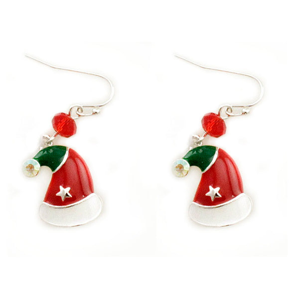 [12PC] Christmas Santa Hat earring