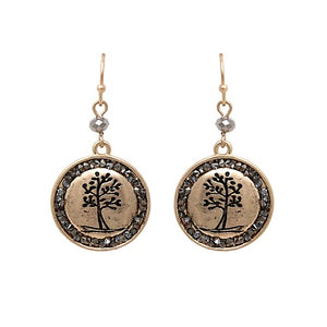 Tree of life earring - gold